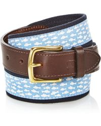 Vineyard Vines - Go Fish Canvas Club Belt - Lyst