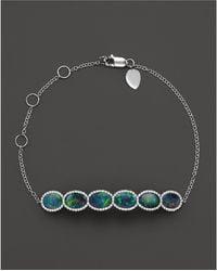 Meira T - 14k White Gold 6 Stone Opal Bracelet - Lyst