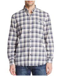 Joe's Jeans - Frayed Plaid Long Sleeve Button-down Shirt - Lyst
