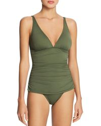Tommy Bahama - Pearl Solids V Neck One Piece Swimsuit - Lyst