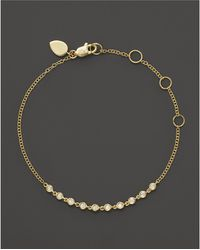 Meira T - 14k Yellow Gold Diamond Bezel Bracelet - Lyst