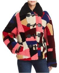 McQ - Patchwork Shearling Coat - Lyst