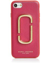 Marc Jacobs - Double J Saffiano Leather Iphone 7/8 Case - Lyst