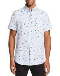 Sovereign Code - Crystal Cove Printed Regular Fit Button-down Shirt - Lyst