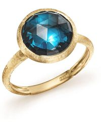 Marco Bicego - 18k Yellow Gold Jaipur Ring With Blue Topaz - Lyst