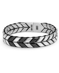 David Yurman - Chevron Woven Bracelet - Lyst