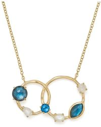 Ippolita - Mother-of-pearl Doublet And Blue Topaz Circle Pendant Necklace - Lyst