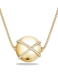David Yurman - Solari Pendant Necklace With Diamonds In 18k Gold - Lyst