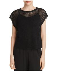 Eileen Fisher - Open-knit Cropped Top - Lyst