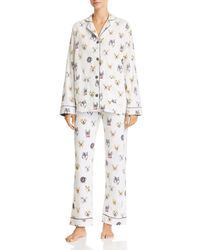 Pj Salvage - Think Pawsitive Dog Print Flannel Cotton Pyjama Set - Lyst