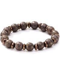 Bourbon and Boweties - Faceted Stretch Bracelet - Lyst