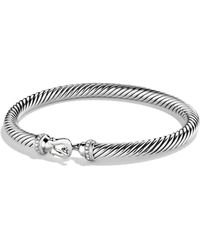 David Yurman - Cable Buckle Bracelet With Diamonds - Lyst