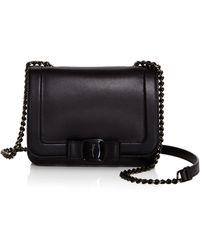 5c5ddf0932 Lyst - Ferragamo Medium Vara Flap Bag in Black
