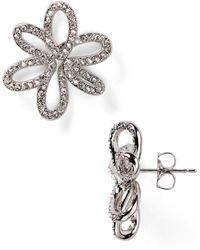 Nadri - Open Flower Stud Earrings - Lyst