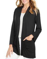 Foxcroft - Lessie Jersey Knit Open Front Cardigan - Lyst