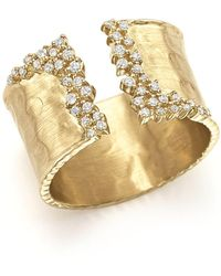 Bloomingdale's - Diamond Cuff Ring In 14k Yellow Gold, .30 Ct. T.w. - Lyst