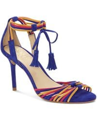 Vince Camuto - Women's Stellima Leather Tasselled Ankle-tie Sandals - Lyst