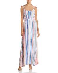 Jack BB Dakota - Mally Striped Maxi Dress - Lyst
