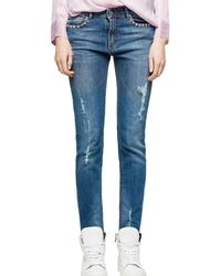 Zadig & Voltaire - Eva Use Slim Jeans In Blue - Lyst