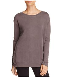 Majestic Filatures - Side-lace-up Sweatshirt - Lyst
