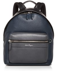 Ferragamo - Leather Backpack - Lyst