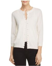 Kate Spade - Scalloped Cardigan Sweater - Lyst