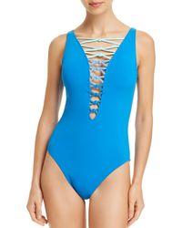 Bleu Rod Beattie - Tiered Knots One Piece Swimsuit - Lyst