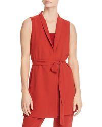Eileen Fisher - Long Tie Vest - Lyst