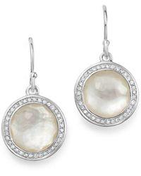 Ippolita - Sterling Silver Lollipop Diamond & Mother-of-pearl Doublet Drop Earrings - Lyst