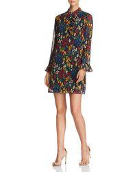 Tory Burch - Livia Floral Dot Ruffle Shirt Dress - Lyst
