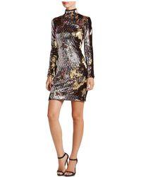 Dress the Population - Katy Mock-neck Sequin Dress - Lyst