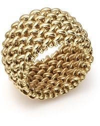 Bloomingdale's - Woven Ring In 14k Yellow Gold - Lyst