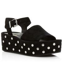 Kenneth Cole - Women's Danton Studded Suede Platform Wedge Sandals - Lyst