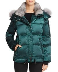 Andrew Marc - Lillie Rabbit & Fox Fur Trim Down Coat - Lyst