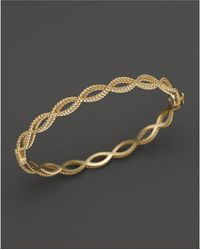 Roberto Coin - 18k Yellow Gold Single Row Twisted Bangle - Lyst