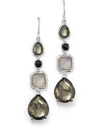 Ippolita - Sterling Silver Rock Candy® 4 Stone Linear Earrings In Black Tie - Lyst