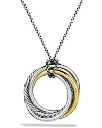 David Yurman - 'crossover' Pendant With Gold On Chain - Lyst