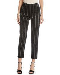 Karen Kane - Piper Striped Straight-leg Pants - Lyst