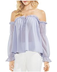 Vince Camuto - Ruffled Off-the-shoulder Top - Lyst