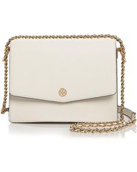 8cde91dfe71b Lyst - Tory Burch Robinson Medium Snakeskin-embossed Leather ...