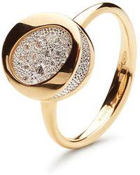 Antonini - 18k Yellow Gold Pavé Diamond Small Ring - Lyst