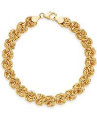 Bloomingdale's - Rosetta Link Bracelet In 14k Yellow Gold - Lyst