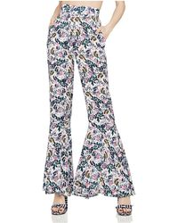 BCBGeneration - Floral Print Flared Trousers - Lyst