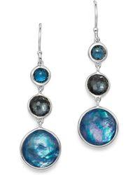 Ippolita - London Blue Topaz & Hematite Drop Earrings In Eclipse - Lyst
