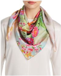 Echo - Tulip Print Silk Scarf - Lyst