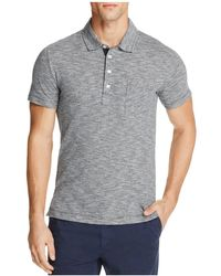Billy Reid - Striped Slim Fit Polo Shirt - Lyst