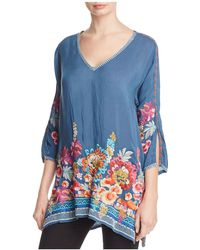 Johnny Was - Araxi Floral Embroidered Tunic - Lyst