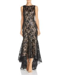 Eliza J - High/low Sequined Mermaid Gown - Lyst
