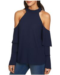 1.STATE - Cold-shoulder Tiered-sleeve Top - Lyst