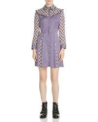 Maje - Reed Mixed-print Silk Dress - Lyst
